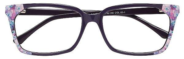 Armação Óculos Receituário AT 5705 Roxo