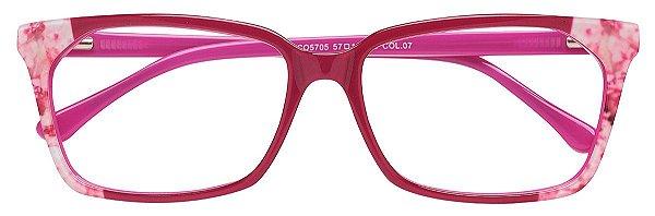 Armação Óculos Receituário AT 5705 Rosa