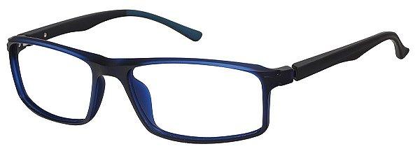 Armação Óculos Receituário AT 87 Azul/Preto