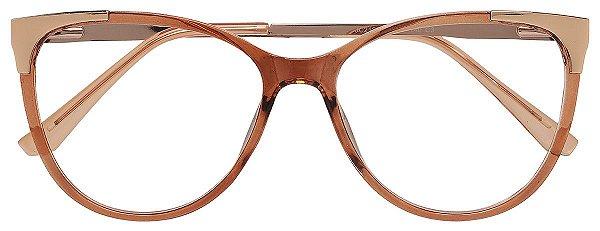 Armação Óculos Receituário AT 2120 Champagne/Dourado