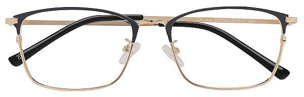 Armação Óculos Receituário AT 6324 Cinza/Dourado
