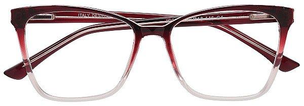 Armação Óculos Receituário AT 2087 Vermelho Degradê