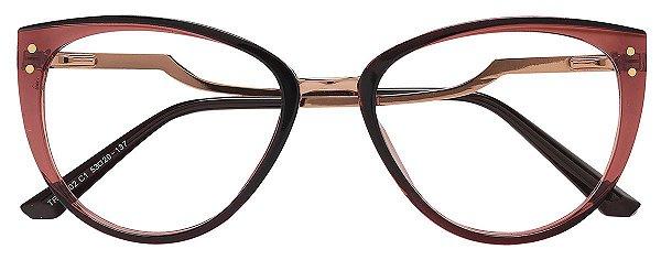 Armação Óculos Receituário AT 20102 Marrom Transparente