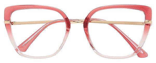 Armação Óculos Receituário AT 206041 Vermelho Degradê