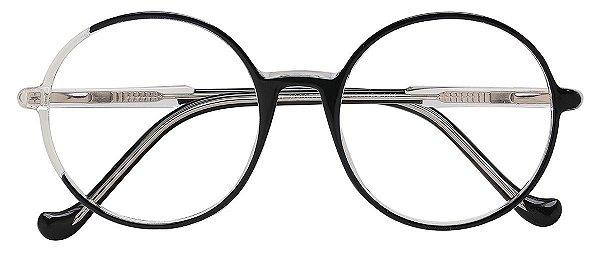 Armação Óculos Receituário AT 206051 Preto/Transparente