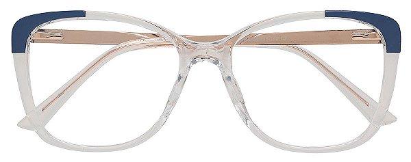 Armação Óculos Receituário AT 2118 Transparente/Azul
