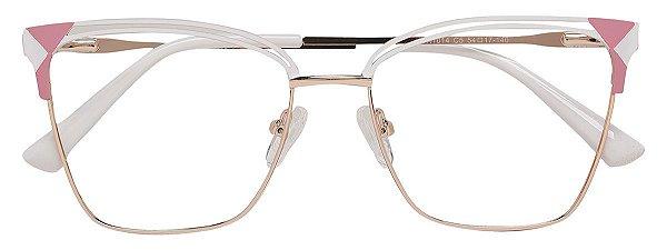 Armação Óculos Receituário AT 1014 Branco
