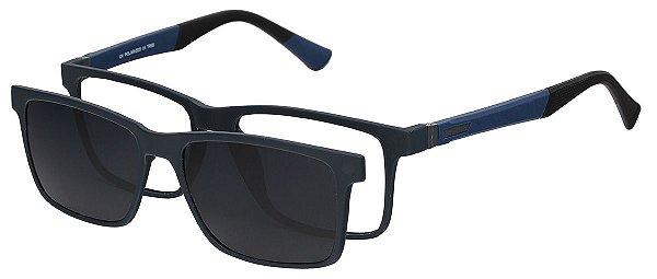 Armação Óculos Receituário e Sol Clipon Com 1 Lente AT 5024 Azul/Preto
