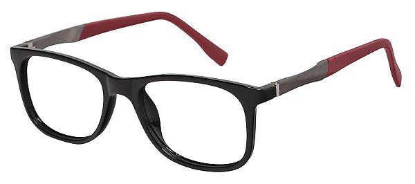 Armação Óculos Receituário Infantil AT 2092 Preto/Vermelho (04 A 12 Anos)