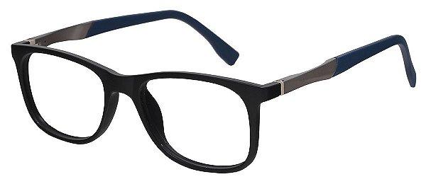 Armação Óculos Receituário Infantil AT 2092 Preto/Azul (04 A 12 Anos)