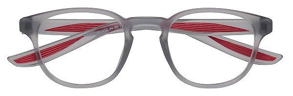Armação Óculos Receituário Infantil AT 1072 Cinza/Vermelho (03 A 08 Anos)