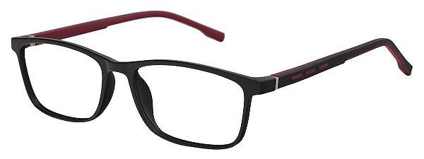 Armação Óculos Receituário AT 1071 Preto/Vermelho