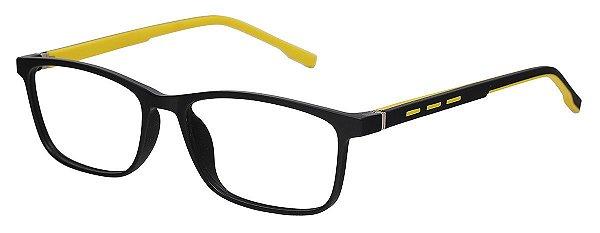 Armação Óculos Receituário AT 1071 Preto/Amarelo