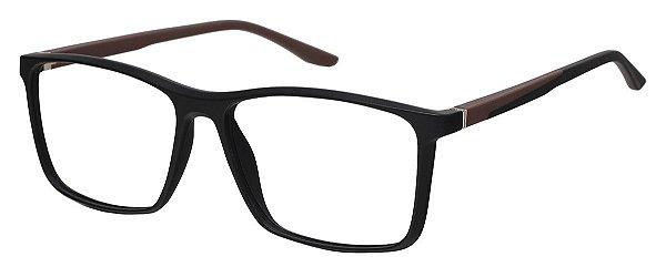 Armação Óculos Receituário AT 1076 Preto/Marrom