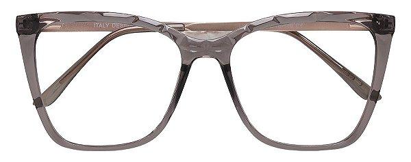Armação Óculos Receituário AT 2114 Cinza Transparente