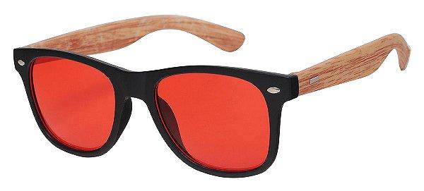 Óculos de Sol Unissex AT 56038 Vermelho/Bambu