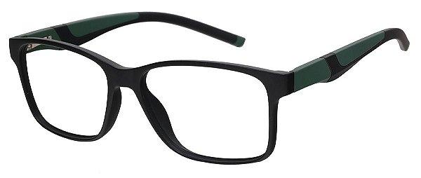 Armação Óculos Receituário AT 1063 Preto/Verde