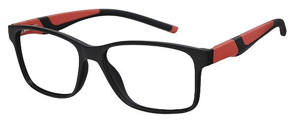 Armação Óculos Receituário AT 1063 Preto/Laranja