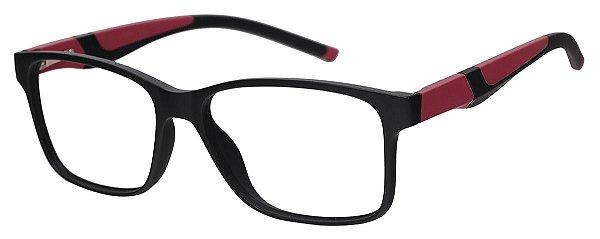 Armação Óculos Receituário AT 1063 Preto/Vermelho