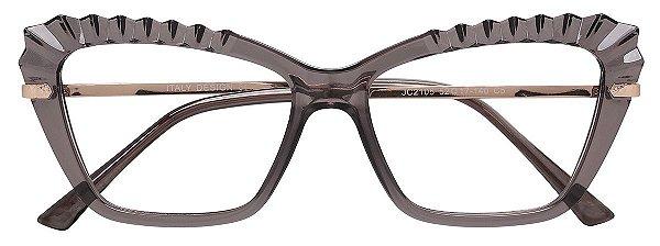 Armação Óculos Receituário AT 2105 Cinza Transparente