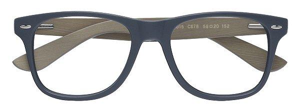 Armação Óculos Receituário AT 206015 Cinza/Madeira