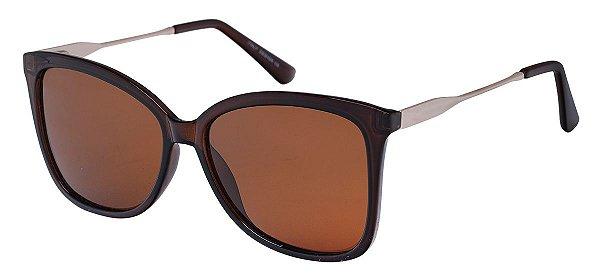 Óculos de Sol Feminino AT 610 Marrom