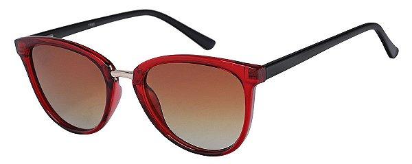 Óculos de Sol Feminino AT 6006 Vermelho Transparente