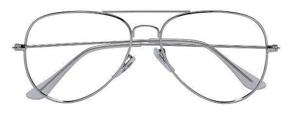 Armação Óculos Receituário AT 3004 Prata