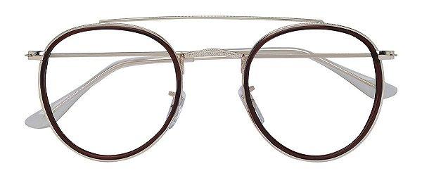 Armação Óculos Receituário AT 3002 Marrom
