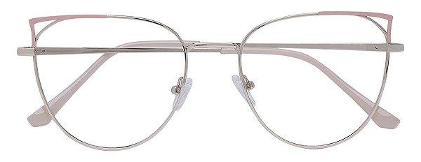Armação Óculos Receituário AT 1038 Rosa/Dourado