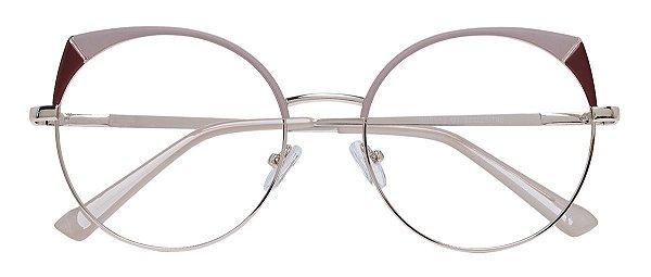 Armação Óculos Receituário AT 8053 Nude/Vinho