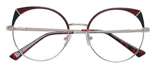 Armação Óculos Receituário AT 8053 Vinho