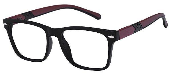 Armação Óculos Receituário AT 1079 Preto/Vermelho