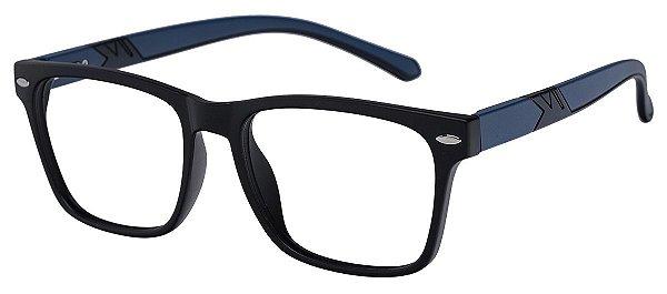 Armação Óculos Receituário AT 1079 Preto/Azul