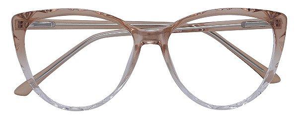 Armação Óculos Receituário AT 1071 Marrom Degradê