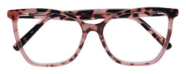 Armação Óculos Receituário AT 2180 Rosa Animal Print
