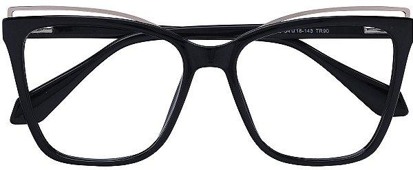 Armação Óculos Receituário AT 7001 Preto