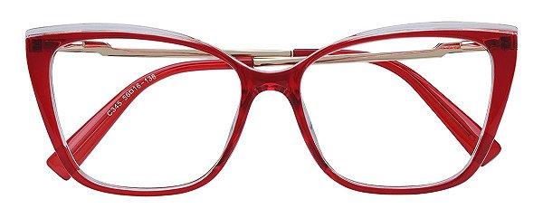 Armação Óculos Receituário AT 206043 Vermelho