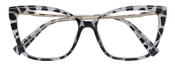 Armação Óculos Receituário AT 206043 Animal Print