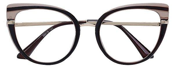 Armação Óculos Receituário AT 206042 Marrom
