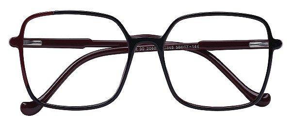 Armação Óculos Receituário AT 206052 Vinho