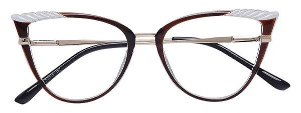 Armação Óculos Receituário AT 5255 Marrom