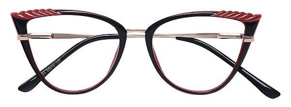 Armação Óculos Receituário AT 5255 Vinho/Preto