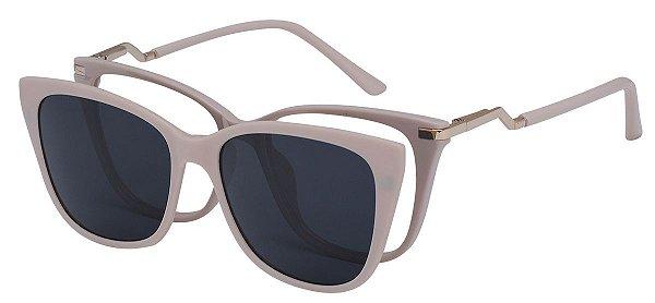 Armação Óculos Receituário e Sol Clipon Com 1 Lente AT 5213 Nude