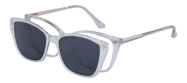 Armação Óculos Receituário e Sol Clipon Com 1 Lente AT 5215 Transparente