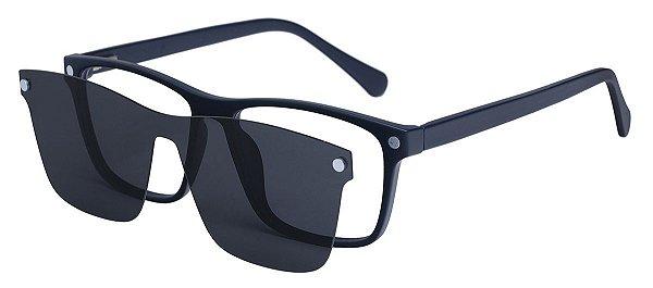 Armação Óculos Receituário e Sol Clipon Com 1 Lente AT 206049 Azul