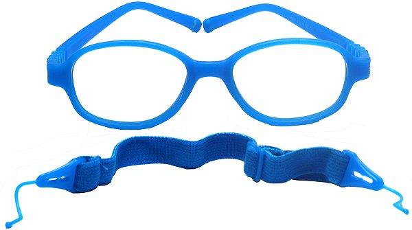 Armação Flexível infantil TIPO Miraflex AT 6037 Azul Turquesa (01 a 03 anos)