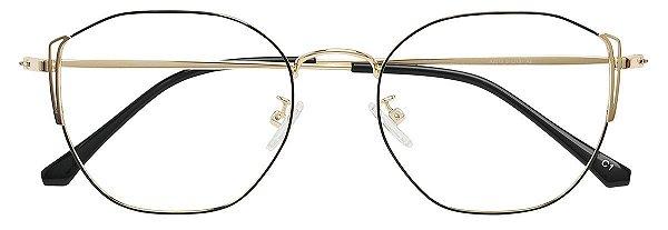 Armação Óculos Receituário AT  2010 Preto/Dourado