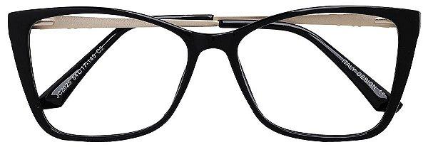 Armação Óculos Receituário AT 2025 Preto