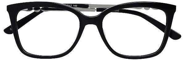 Armação Óculos Receituário AT 6353 Preto